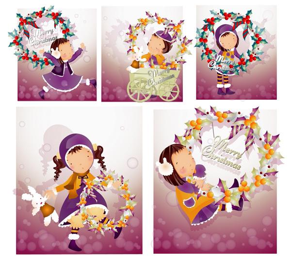 圣诞节主题1(韩国iclickart四季可爱女孩专辑)