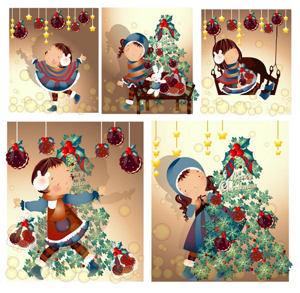 圣诞节主题(韩国iclickart四季可爱女孩