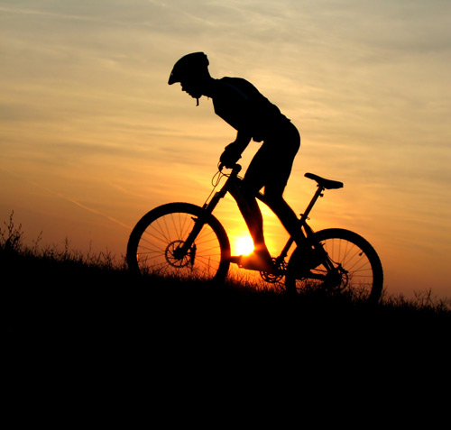 黄昏自行车运动