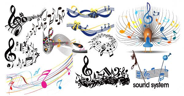 音乐元素矢量素材,eps格式