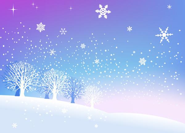 浪漫意境的冰天雪地,蓝色,雪景,松树,冰天雪地,浪漫,雪花,雪地,圣诞