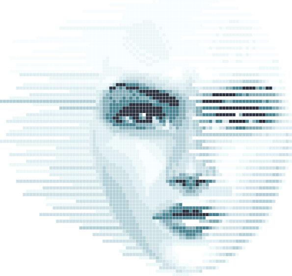 数字化女性脸