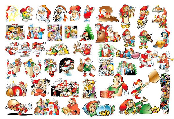 可爱圣诞节插图