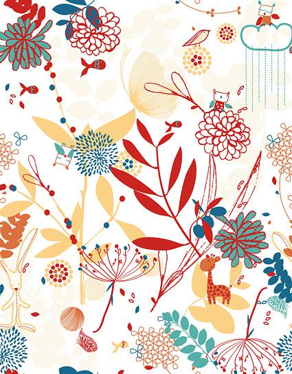素材分类: 矢量花纹所需点数: 0 点 关键词: 可爱花朵植物与动物矢量