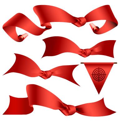 红丝带矢量素材