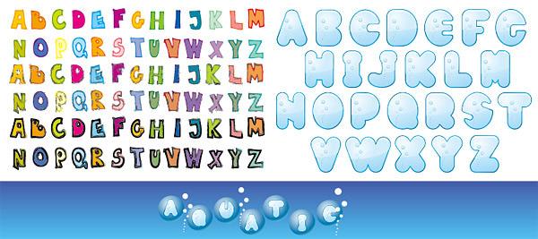 可爱的英文字母
