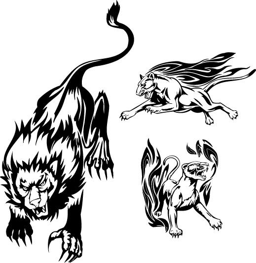 火焰狮子图腾矢量素材,eps格式,矢量火焰,狮子,图腾,纹身图案,矢量