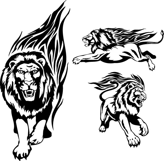 火焰狮子图腾