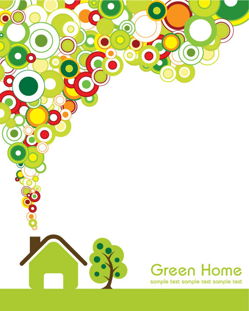 绿色的房子矢量