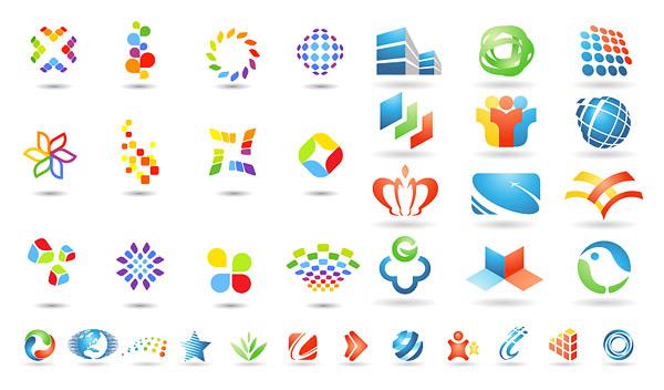 logo图形模板_矢量各式图标