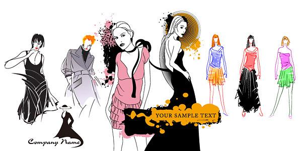 女性服装模特