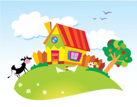 0 点 关键词: 可爱卡通风景矢量素材,eps格式,矢量郊外,奶牛,鸡,房子