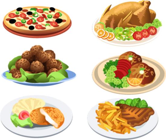 西式食物矢量_矢量水果 - 素材中国_素材cnn