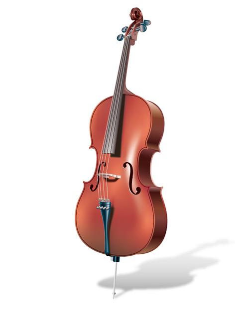 逼真的小提琴