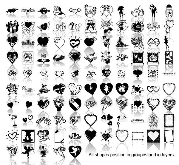 心形图案大全黑白