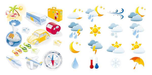 交通工具,沙滩,太阳,旅游大巴,巴士,小车,帐篷,高速列车,飞机,指南针