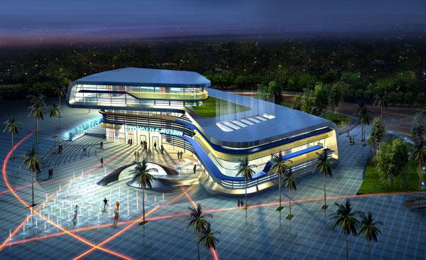 音乐厅建筑效果图