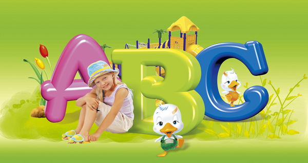 abc外国儿童psd_平面广告 - 素材中国_素材cn