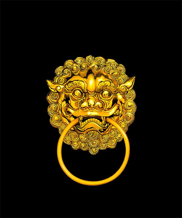 黄金虎头门环