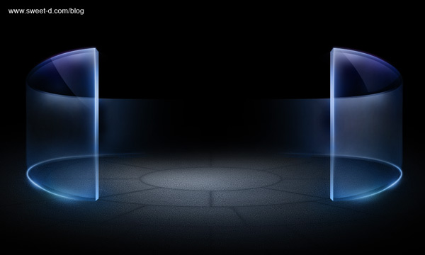 水晶墙PSD