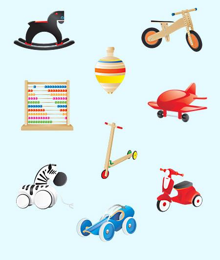 儿童玩具图标_素材中国sccnn.com