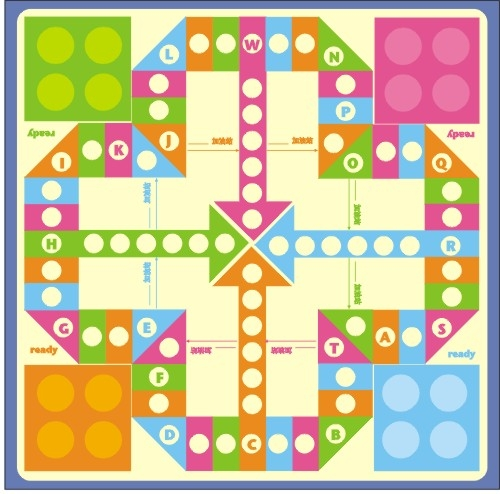 飞行棋棋盘图片