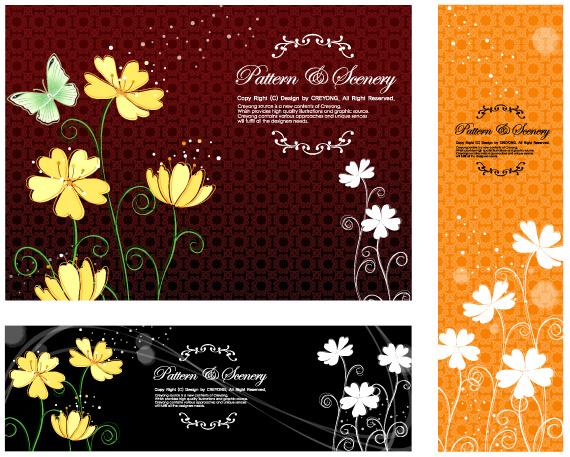 矢量花纹,装饰花纹,矢量植物