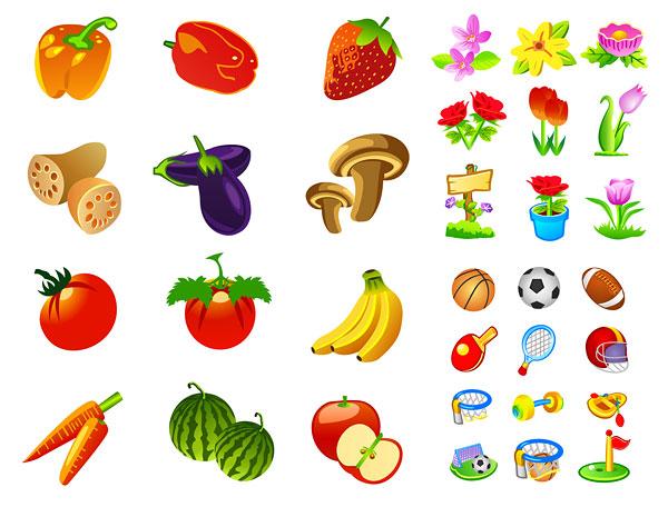 蔬菜水果运动花卉