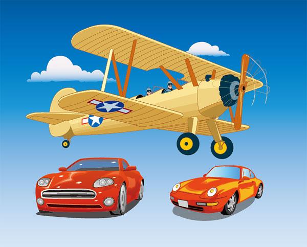 飞机与轿车