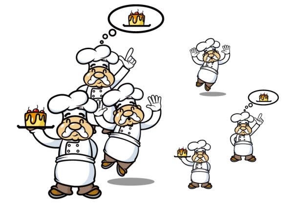 蛋糕师人物矢量素材,蛋糕师,矢量,人物,卡通,模板,可爱,蛋糕,厨师