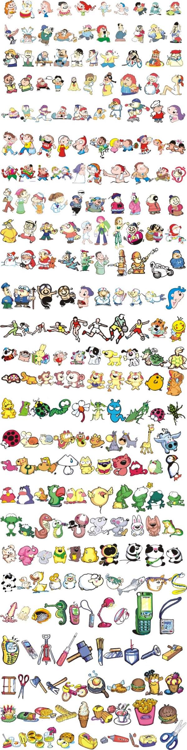 动物卡通马克笔