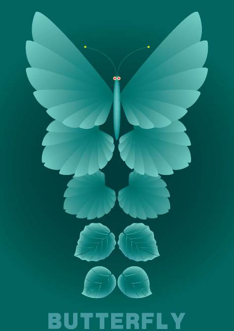 叶子和蝴蝶