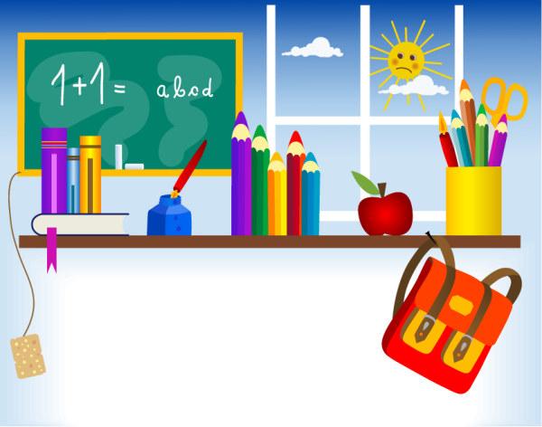 小学生矢量_卡通背景小学生个人简历模板矢量图_其他模板