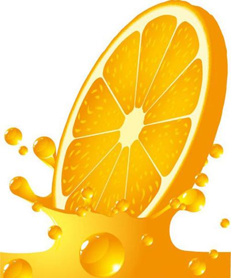 橙子飞溅矢量