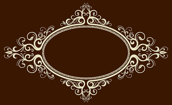 椭圆形,欧式,边框,花边