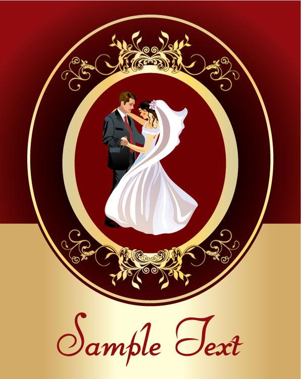 花边矢量素材,欧式花边,花纹,边框,婚庆,婚礼,新人,结婚,跳舞,人物