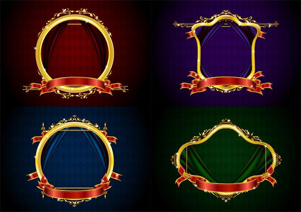 欧式圆形金色相框