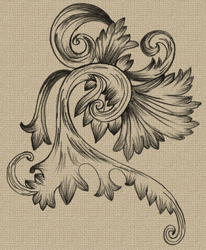手绘欧式花纹_矢量传统