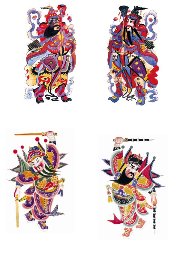 传统门神财神1