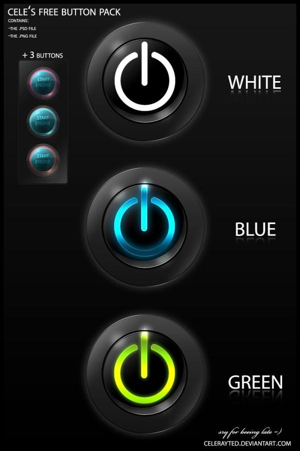 开关按钮PSD