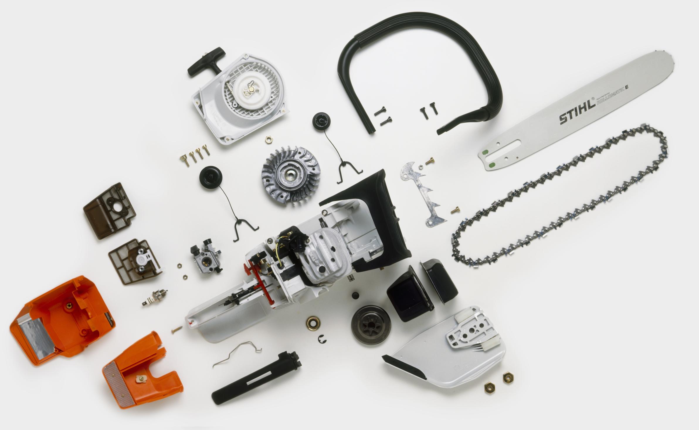 电锯零件分解