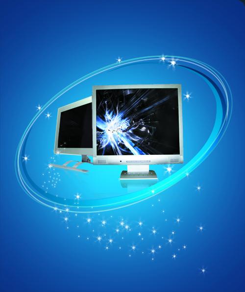 蓝色科技时尚背景