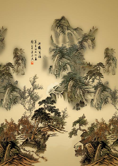 古典山水中国画