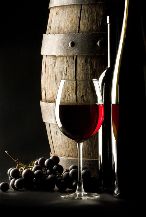 葡萄酒,红酒,木桶
