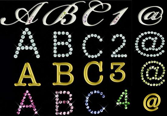 钻石金属艺术字母