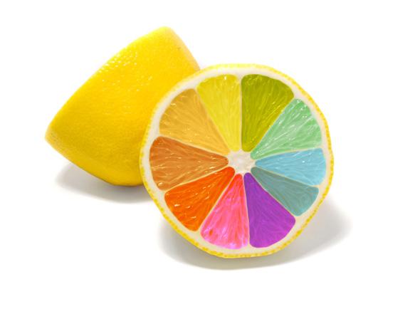 五颜六色的橙子