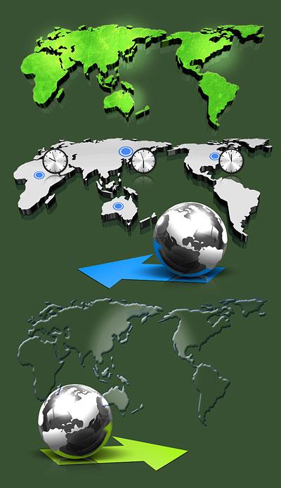 立体世界地图_雕塑器皿