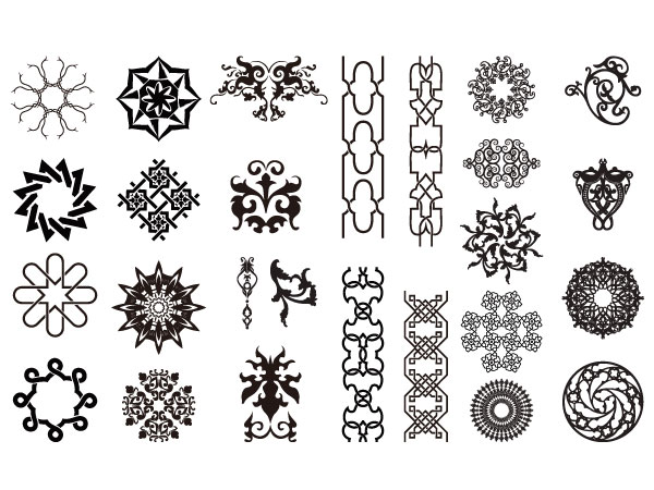 素材分类: 矢量花边 所需点数: 0 点 Easy Arabesque Art