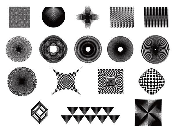 几何图形线条_矢量图案