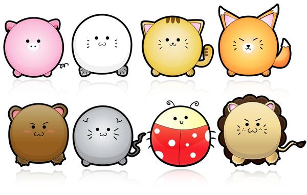 可爱的卡通动物_素材中国sccnn.com